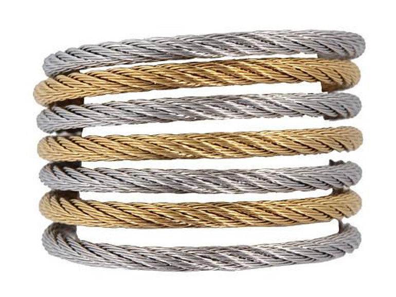 Charriol Seven Row Modern Cable Mix Ring (Size 7) 02-34-S760-00
