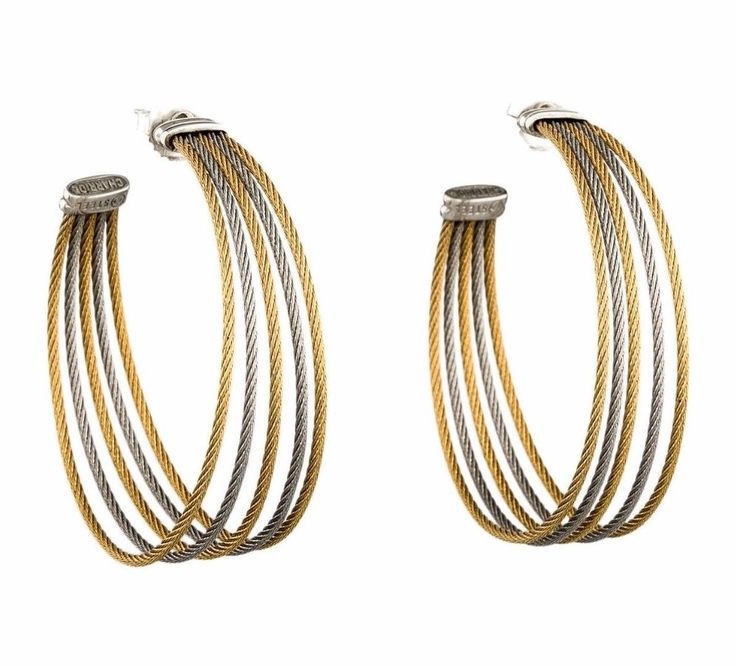 Charriol Modern Cable Mix earrings 03-34-S760-00