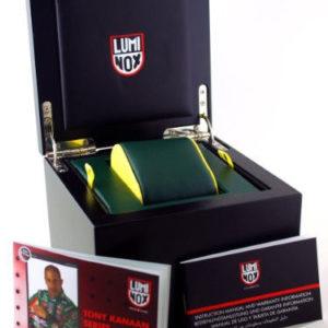Luminox Men's 1143 Tony Kanaan Limited Edition Analog Swiss Quartz Black Leather