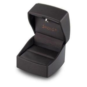 Simon G Side Stone 18k - White Gold Engagement Ring Simon G MR2432