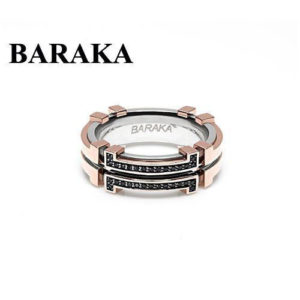 BARAKA AN261101RODN220015 18K/DIAM ST.STEEL RING