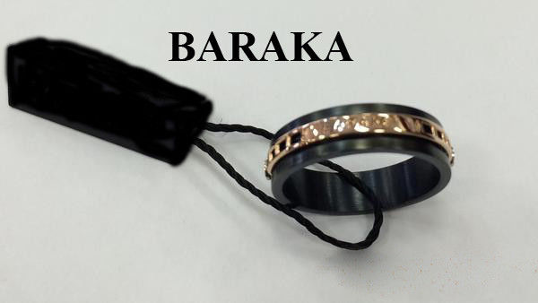 BARAKA AN272101RBAN220000 18K/PVD STEEL RING