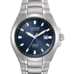 Citizen Men's BM7170-53L Titanium Bracelet Blue dial