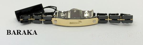 BARAKA BR215181GICN070 18K/ST.STEEL CERAMIC BRACELET