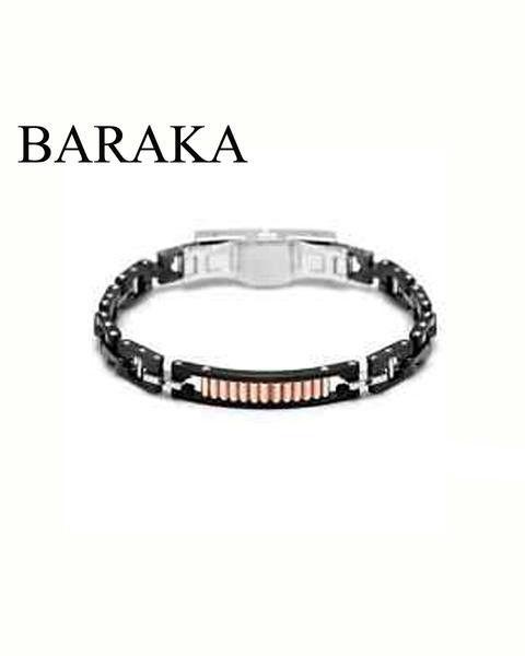 BARAKA BR232011RODN210002 18K/STEEL BLK.DIAM CERAMIC BRACELET