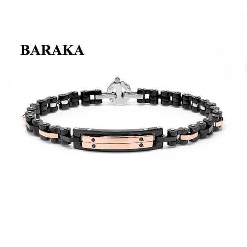 BARAKA BR261181RODN220006 18K/PVD/DIAM CERAMIC ST.STEEL BRACELET