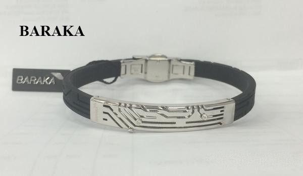 BARAKA BR275121BIDB220003 18K/DIA/RUBBER BRACELET