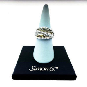 Simon G MR1878 18K Ring Size 6.5