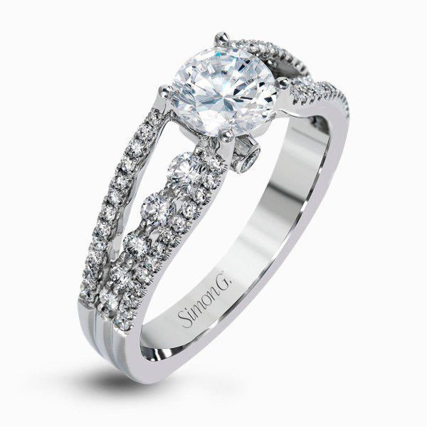 Simon G MR2248-D ENGAGEMENT RING DELICATE COLLECTION