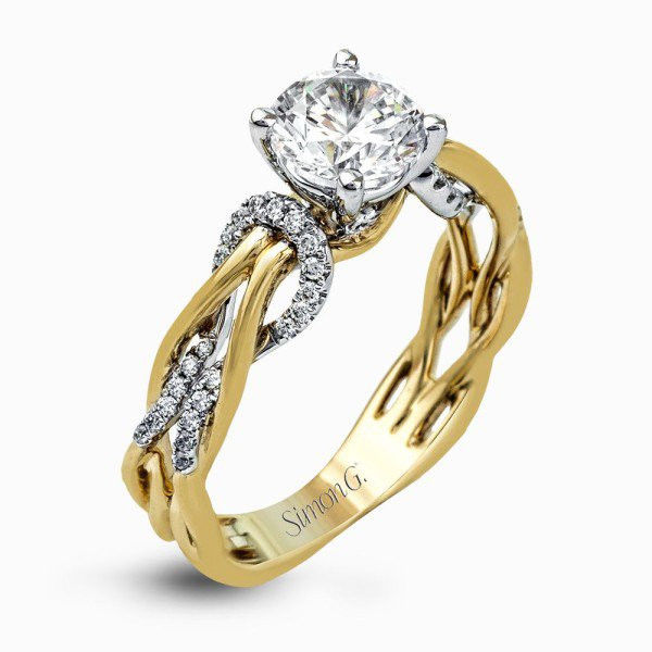 Simon G MR2514 ENGAGEMENT RING Size 6.5
