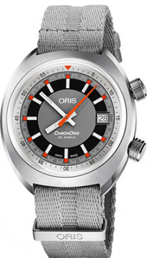 Oris 01733773740530781901 Men's Chron Date Stainless Steel Automatic Watch
