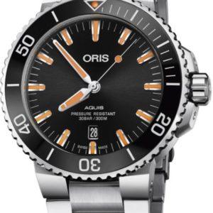 Oris 01733773041590782405PEB Aquis Date 43.5mm Mens Watch