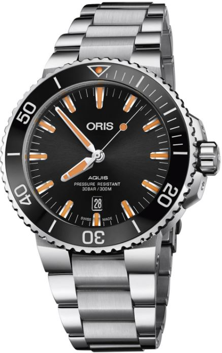 Oris 01733773041590782405PEB Aquis Date 43.5mm Mens Watch