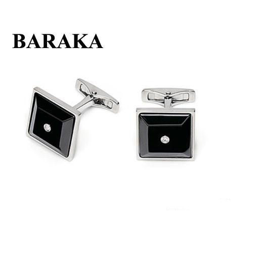 BARAKA PS215510ACCN 000004 ST.STEELCERAMIC CUFF LINKS