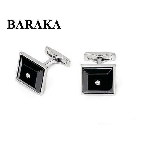 BARAKA PS215510ACCN 000004 ST.STEELCERAMIC CUFF LINKS