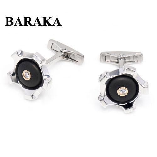 BARAKA PS231181RODB 000002 18K/ST.STEEL CUFF LINKS