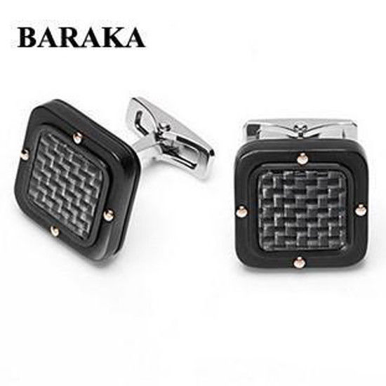 BARAKA PS261251GRCO00000 18K/ST.STEEL PVD CUFF LINKS