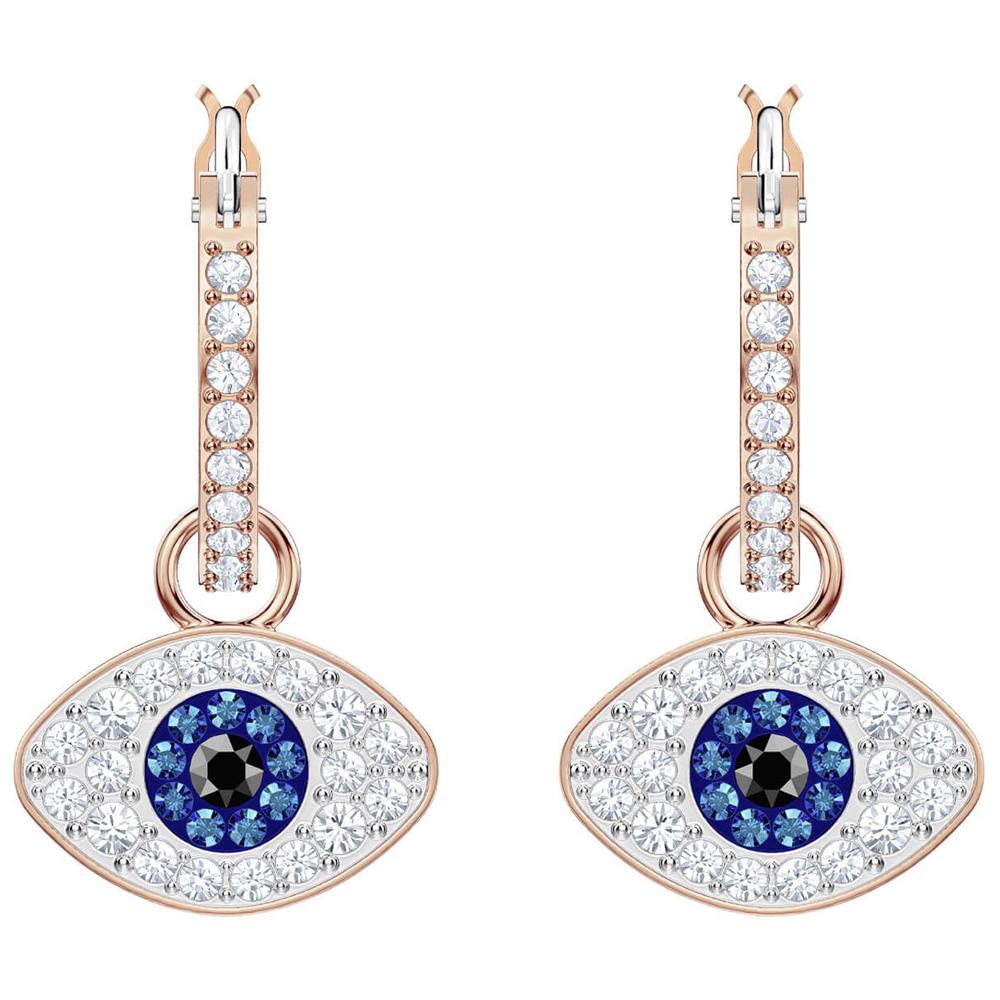 6cfb7d8fa34f6 Swarovski Evil Eye Rose Gold Plated Stud Earrings - Best All Earring ...