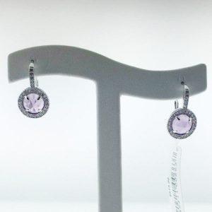 Crislu 309975L00LA Lever Back Sterling Silver Earrings