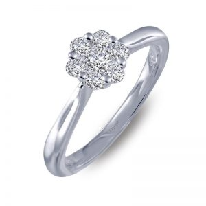 Lafonn 6R017CLP07 Engagement Ring CZ Size 7