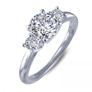 Lafonn 6R019CLP07 Engagement Ring CZ Size 7