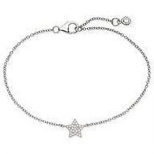 Crislu 9010068b60cz STERLING SILVER STAR BRACELET