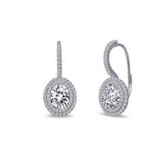 Lafonn E0216CLP00 Oval Halo Set Earrings