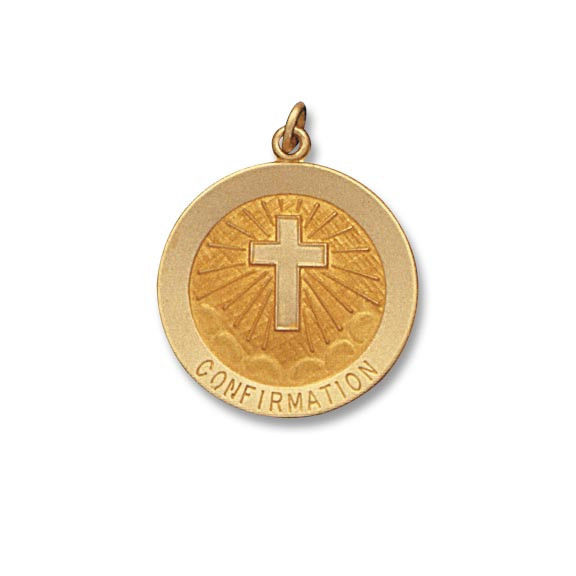 14 Kt. Round Yellow Solid Confirmation Religious Medal