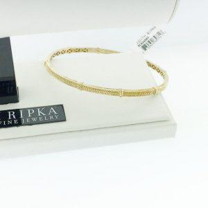 Judith Ripka Silver Linen Rope Bangle Bracelet RCB243MY
