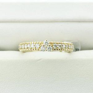 Judith Ripka Yellow Gold Berge Ring size 7 RCE143-DI