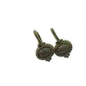 Judith Ripka Oval Pave Earrings RCE196Y-DI