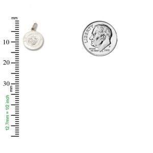 Baptism SERIES Round Silver Bright Plated Religious Medal S272/1RH