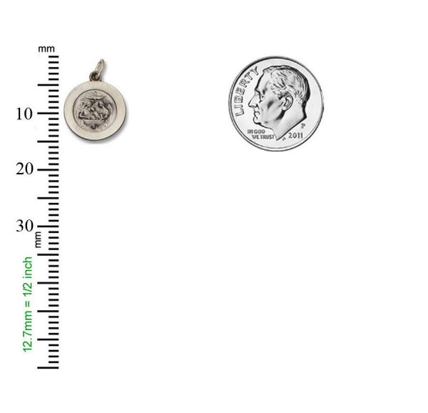 Baptism SERIES Round Silver Antiqued Religious Medal S272