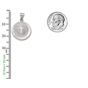 Confirmation SERIES Round Silver Bright Plated Religious Medal S333RH