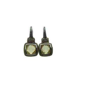 Judith Ripka Canary Crystal Cushion Stone Earrings SE286DI-CA