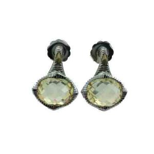 Judith Ripka Contempo Oval Stone Earrings SE518-CA