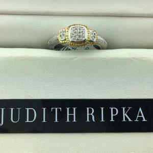 Judith Ripka Pave Cusion Ring SR220DI-7
