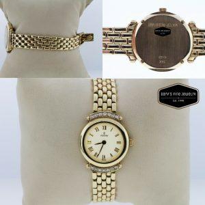 Concord 14K Yellow Gold Diamond Bezel White Dial 23mm Women's Watch