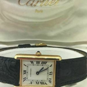 Cartier Tank Louis Yellow Gold Quartz W1512856 18k Vintage Watch