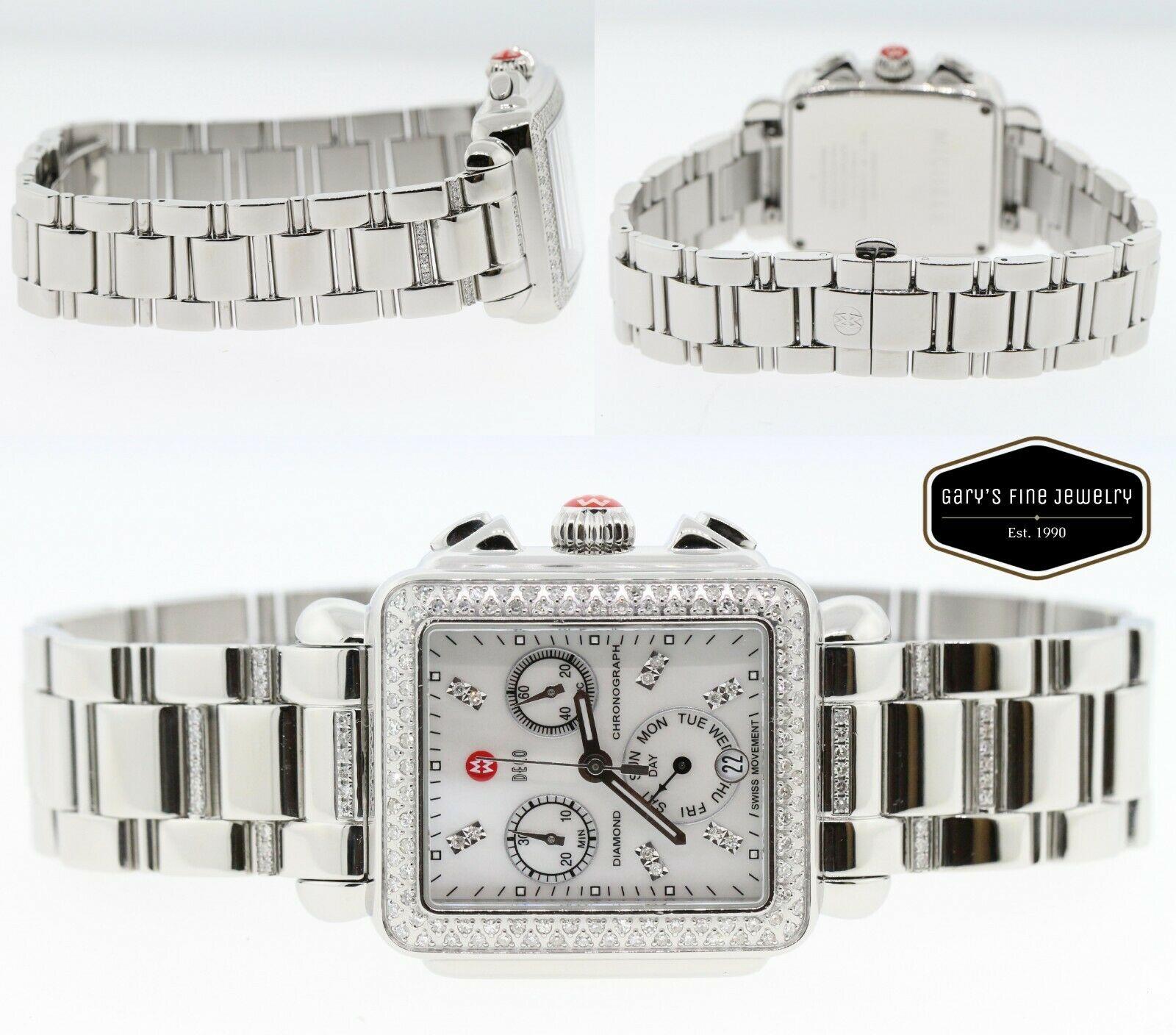 MICHELE Deco 120 Diamonds Stainless Steel MW06P01A1046 + Diamond Link Bracelet