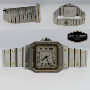 CARTIER Santos 1566 Two-Tone 18K Yellow Gold & Stainless Steel Woman's Watch