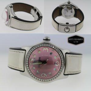 Corum Bubble 39.151.47 Ladies Diamond MOP Steel Date Quartz Watch