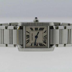 Cartier Tank Francaise Model 2384 Ladies' 20mm Quartz Stainless Steel Watch