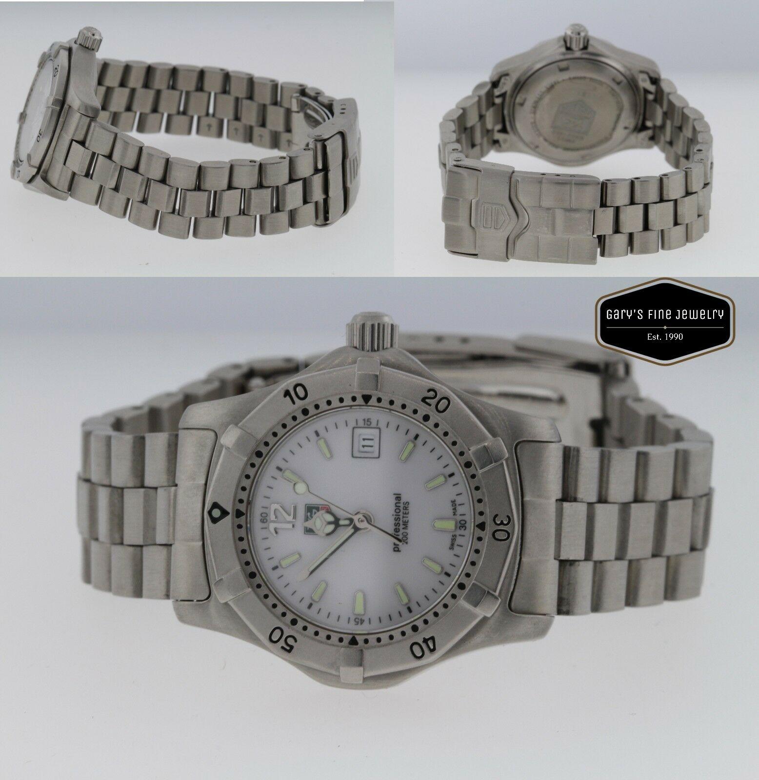 TAG HEUER 2000 Series Ladies White Dial 28mm WK1311-0 Watch