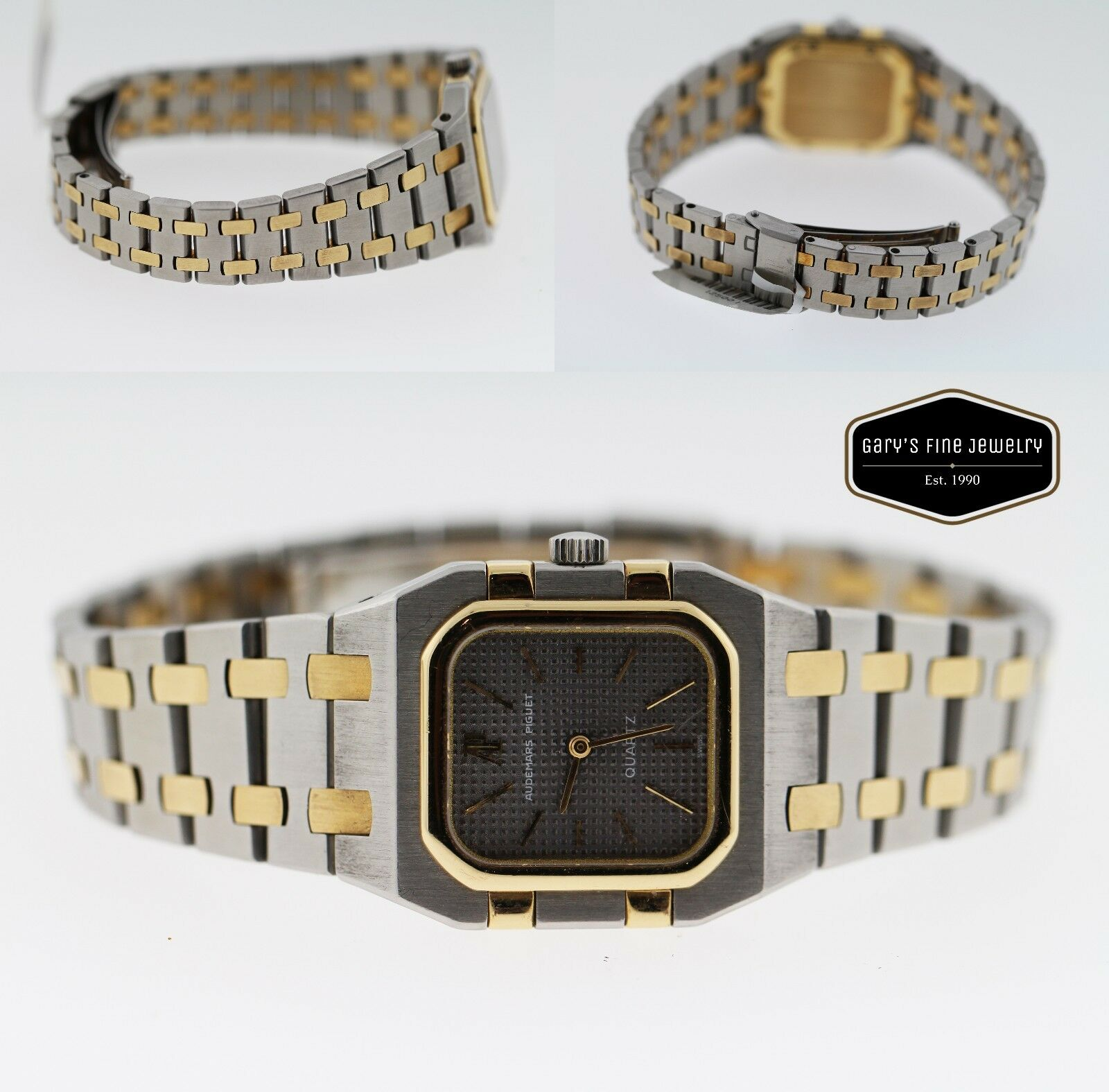 Audemars Piguet Royal Oak Square 25mm 18k Gold Two-Tone Mens Vintage 1980 Watch
