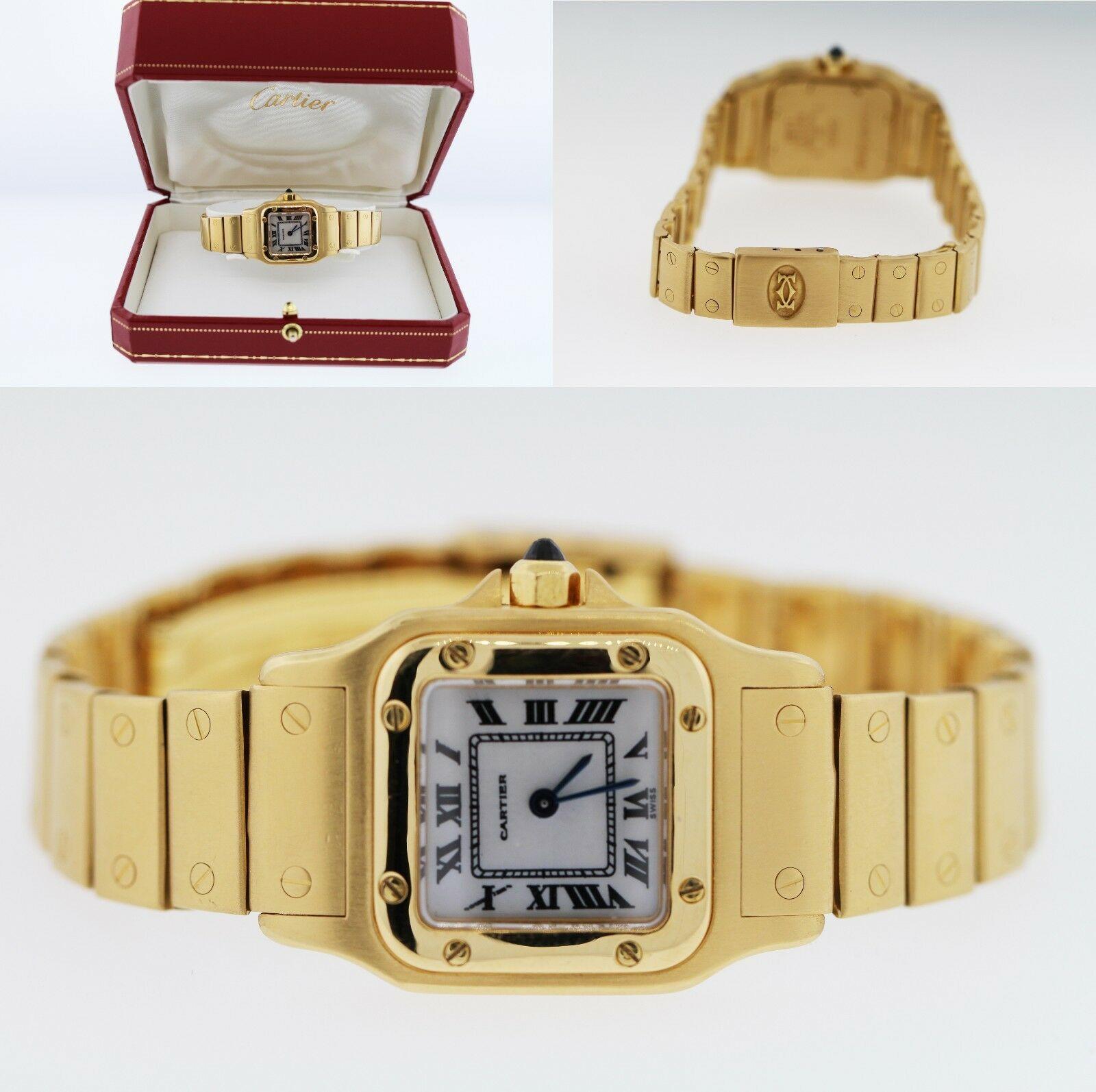 Cartier Santos 1453 Ladies' 18K Yellow Gold Watch 24mmx35mm