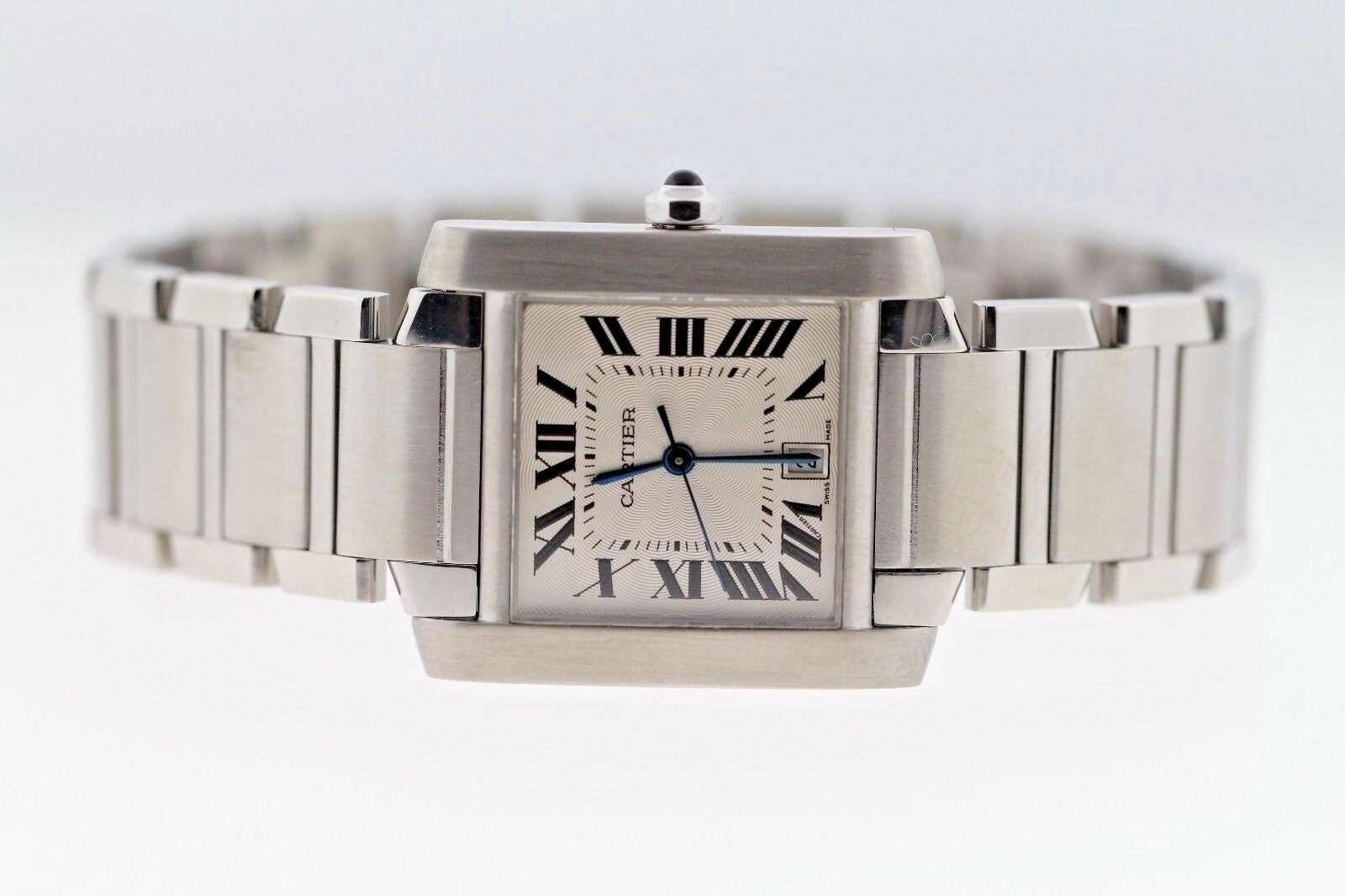Cartier 2302 Tank Francaise Large 28x32mm Stainless Steel Automatic Unisex Watch