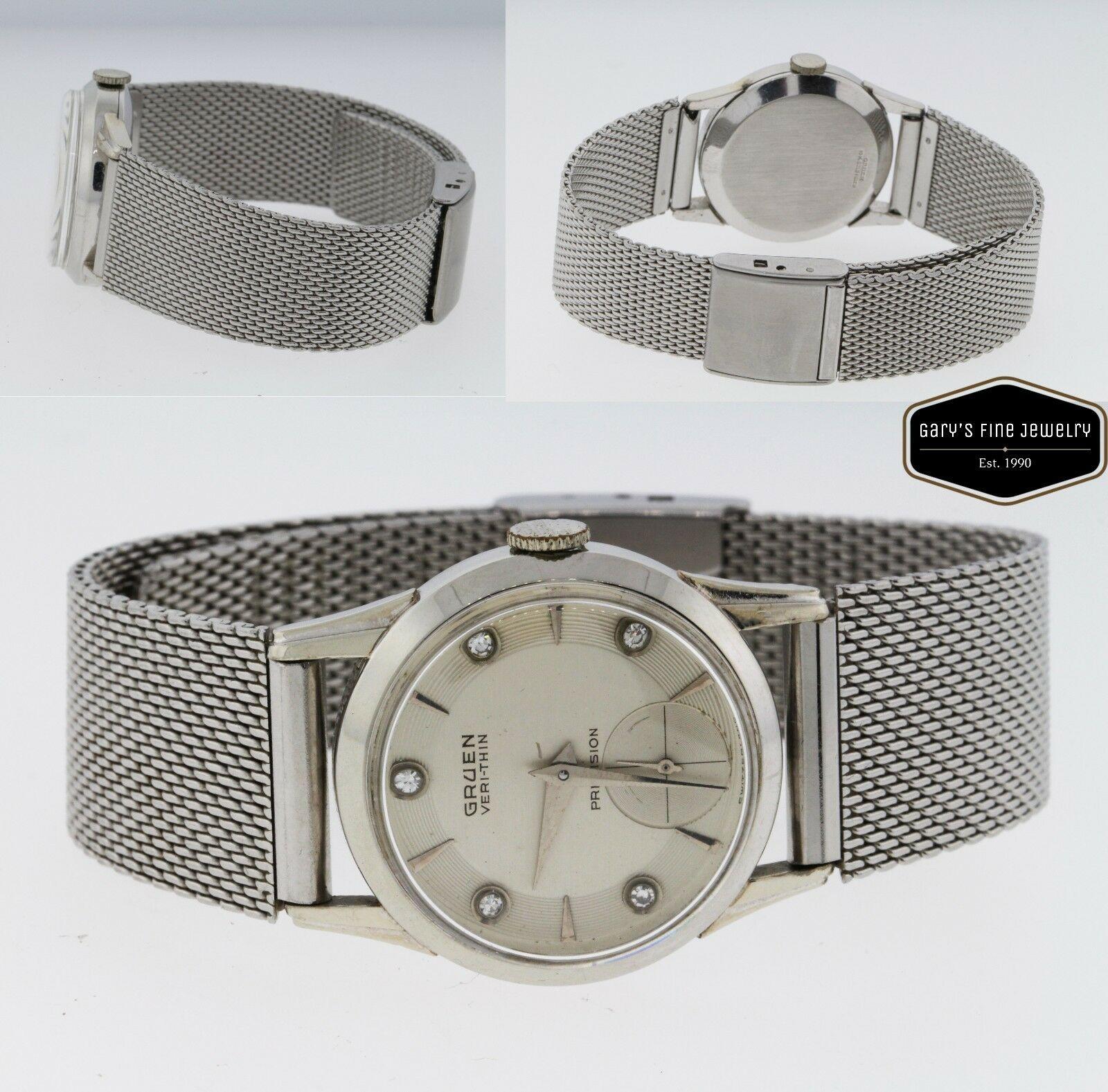 Gruen Veri-Thin Precision Unisex Watch 10K Gold Filled Vintage