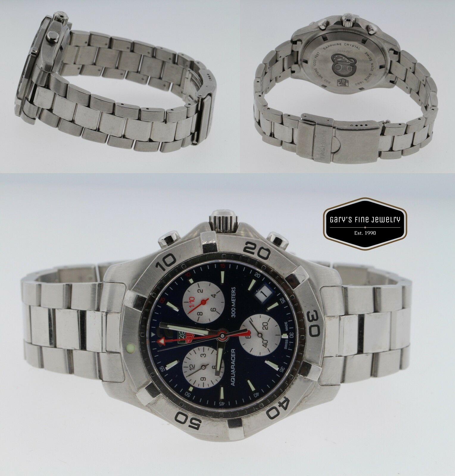 TAG HEUER Aquaracer CAF1112 Chronograph Men's 42mm Steel Quartz Watch