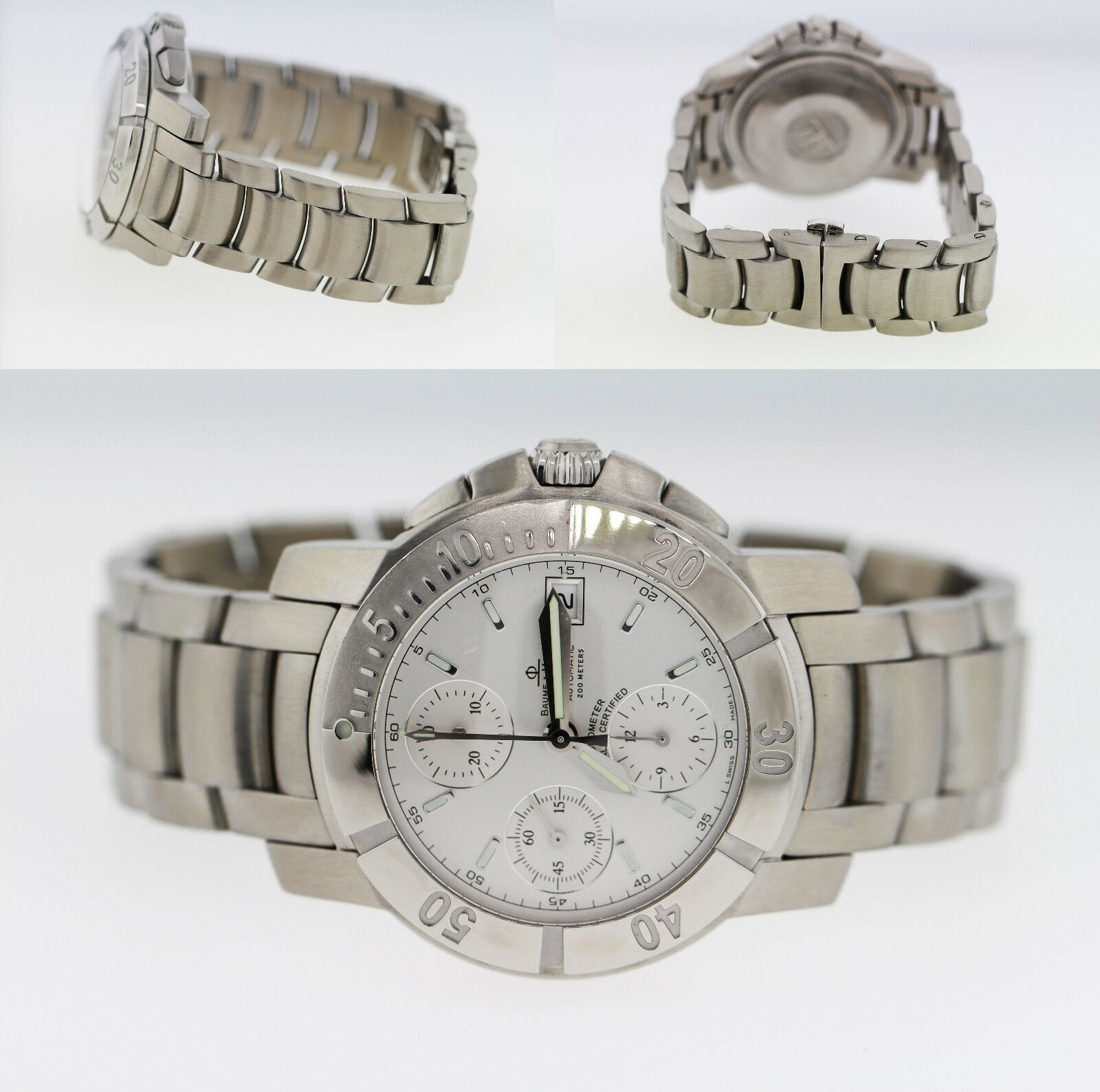 Baume & Mercier Capeland Chronograph Stainless Steel Men's 41mm Watch 65366